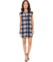 BB Dakota - Nelson Plaid Chiffon Shirt Dress with Slip
