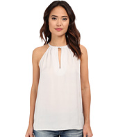 BB Dakota - Sabina Reverse Crepon Keyhole Tank Top