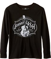The Original Retro Brand Kids - Johnny Cash Long Sleeve Shirt (Big Kids)