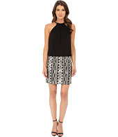 Jessica Simpson - Blouson Bungee Necklace Dress with Emblesshed Skirt