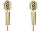 Pyramid Stud Linear Chandelier Earrings