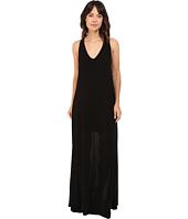 Lanston - Deep V Open Maxi Dress