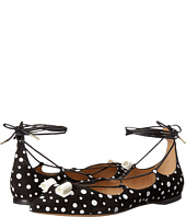 Salvatore Ferragamo - Multicolor Suede Lace Up Ballerina Flat