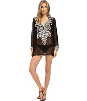 Athena - Cabana Solids Tunic w/ Embroidery Cover-Up