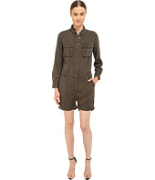 The Kooples - Combinaison Short En Tencel Type Militaire