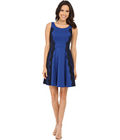 Jessica Simpson - Scuba Fit and Flare Dress with Lace