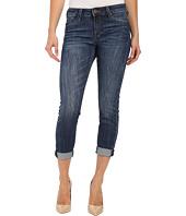 KUT from the Kloth - Kathleen Slim Boyfriend Jeans in More w/ Dark Stone Base Wash