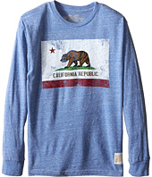 The Original Retro Brand Kids - Long Sleeve Tri-Blend California Flag Tee (Big Kids)