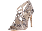 High Sandals in Natural Embossed Python