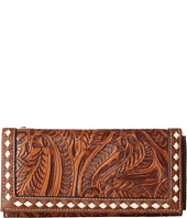 M&F Western - Floral Embossed Buck Stitch Wallet
