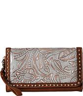 M&F Western - Floral Embossed Wristlet Wallet