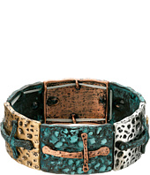 M&F Western - Mixed Metal Cross Stretch Bracelet