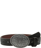 Ariat - Embossed Oval Shield Buckle Belt (Little Kids/Big Kids)