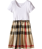 Burberry Kids - Rosey Rib Jersey & Woven Mix Dress (Little Kids/Big Kids)