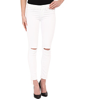 Paige - Verdugo Ankle w/ Undone Hem in White Mist Destructed