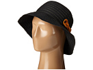 RBM5557 Ribbon Sun Hat with Braided Fauxe Suede Snap Closure