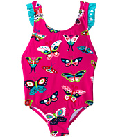 Hatley Kids - Electric Butterflies Ruffle One-Piece Swimsuit (Toddler/Little Kids/Big Kids)