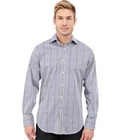 Thomas Dean & Co. - Long Sleeve Woven Poplin Check