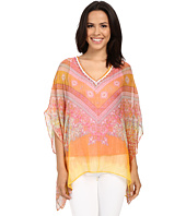 Hale Bob - Hide and Go Chic Poncho Silk Blouse with Lurex