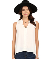 Jack by BB Dakota - Adamma Crepe de Chine Collared Tank Top