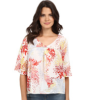 Jack by BB Dakota - Gayorina Printed Crepe de Chine Top with Tape Trim