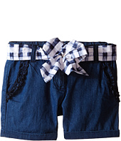 Armani Junior - Shorts with Belted Bow in Denim (Toddler/Little Kids)