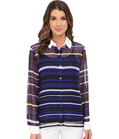 Vince Camuto - Long Sleeve Zen Multi Stripe Blouse