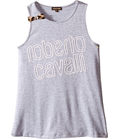 Roberto Cavalli Kids - Logo Tank Top with Bow Detail (Big Kids)