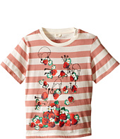 Stella McCartney Kids - Chuckle Short Sleeve Striped Strawberries Tee (Infant)
