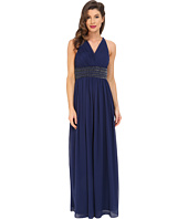 Aidan Mattox - Shirred Chiffon Gown with Twist Back
