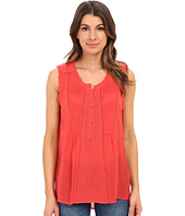Lucky Brand - Mixed Fabric Top