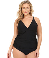Athena - Plus Size Cabana Solids Removable Soft Cup Halterkini