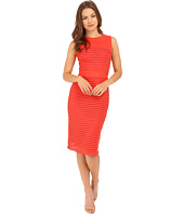 Christin Michaels - Nea Sleeveless Dress with Mesh Detail