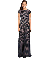 Donna Morgan - Isabelle Cap Sleeve Beaded Gown