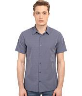 Vince - Jacquard Square Hem Short Sleeve Melrose Shirt