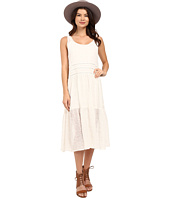 BB Dakota - Clara Embroidered Chiffon Trapeze Dress with Slip
