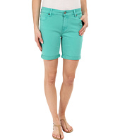 Liverpool - Corine Colored Denim Shorts in Aqua Green