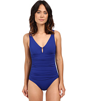 LAUREN Ralph Lauren - Beach Club Solids Ring Over the Shoulder One-Piece w/ Slimming Fit & Removable Cup