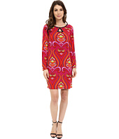 Laundry by Shelli Segal - Long Sleeve Key Hole Print Dress