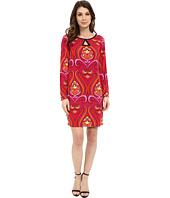 Laundry by Shelli Segal - Long Sleeve Key Hole Print Dress