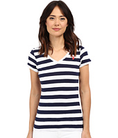 U.S. POLO ASSN. - Lace Trim V-Neck T-Shirt