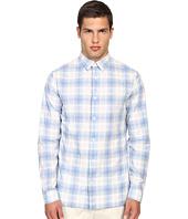 Vince - Cotton-Linen Square Hem Long Sleeve Melrose Shirt