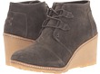 Tarmac Olive Suede/Faux Crepe Wedge