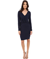 Three Dots - Elfie Long Sleeve V-Neck Dress