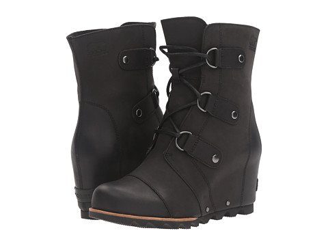 R Report Black Lace Up Wedge Shoes