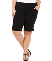Jag Jeans Plus Size - Plus Size Ainsley Classic Fit Bermuda in Black Bay Twill