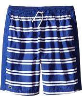 Lacoste Kids - Striped Swim Shorts (Little Kids/Big Kids)