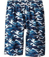 Lacoste Kids - Wave Print Swim Boardshorts (Little Kids/Big Kids)