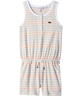 Lacoste Kids - Whitened Effect Heathered Stripe Romper (Toddler/Little Kids/Big Kids)