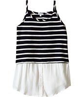 Splendid Littles - Striped Split Loose Knit Tank Top (Big Kids)